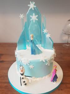 Frozen Ice Castle Cake