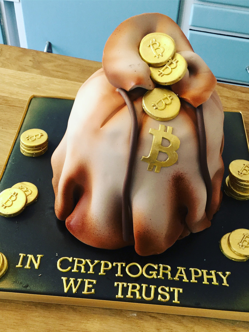 Cryptocurrency Cake