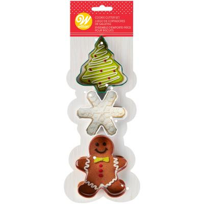 Christmas Tree Cookie Cutters Set of 3