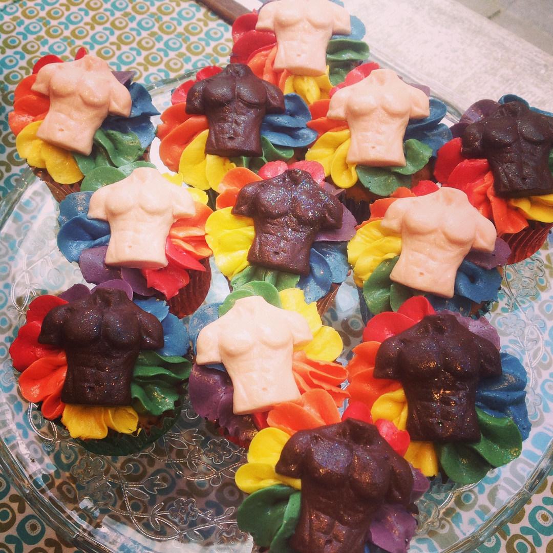 Gay Pride Cupcakes