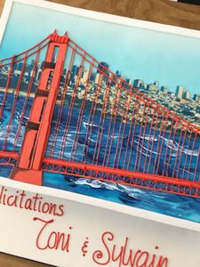 San Francisco Postcard Cake