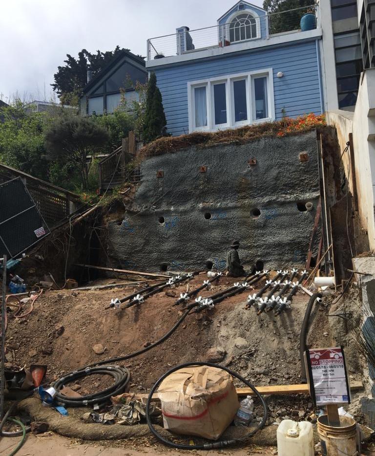 Soil Retention Using Tieback Anchors