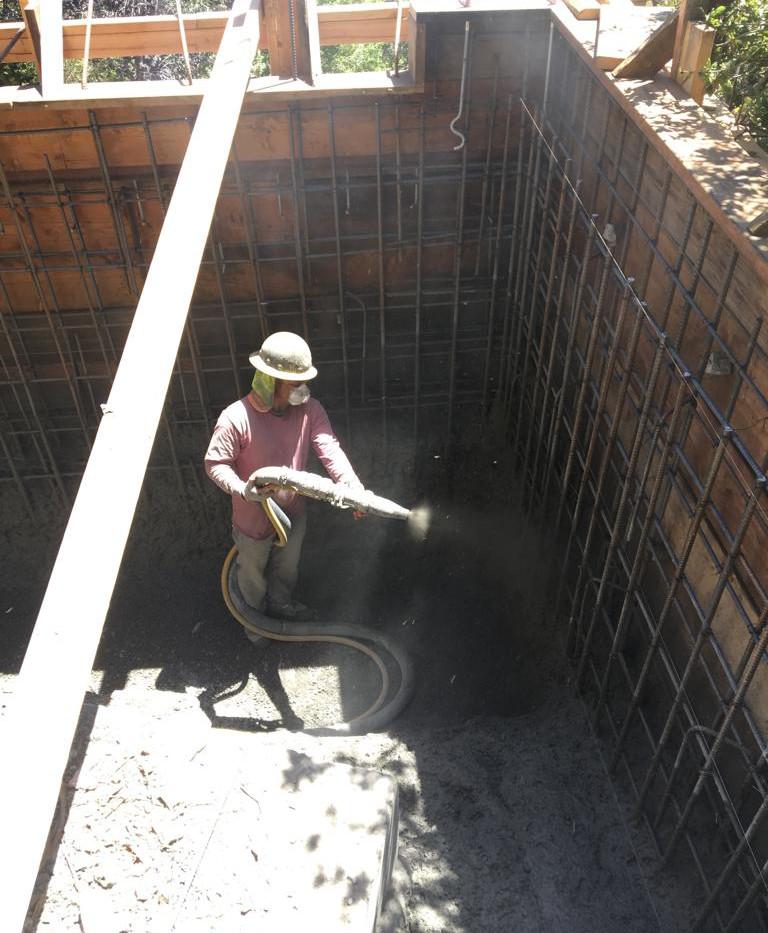 Shotcrete Foundation Retaining Wall