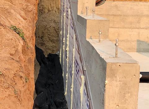 Foundation Retaining Wall