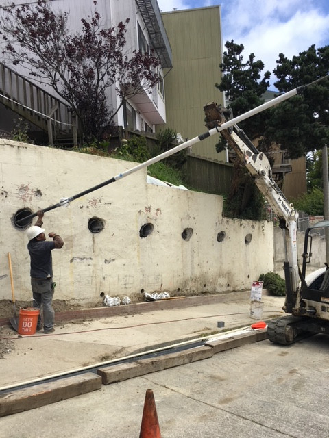 Retaining Wall Support