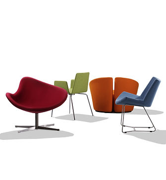 farvet stole