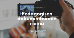 Pedagogisen dokumentoinnin riemu TinyApp blogi