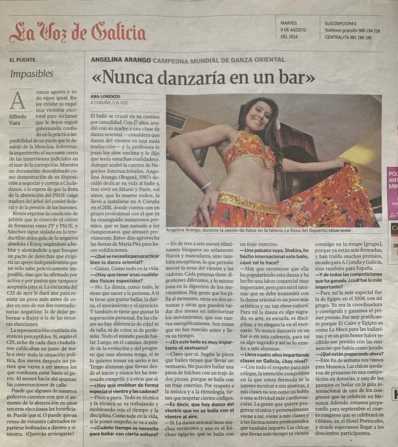 Angelina Masud en la Voz de Galicia