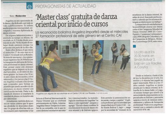 Angelina Masud en La Opinión A Coruña