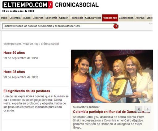 Angelina Masud Diario El Tiempo, Bogotá Colombia
