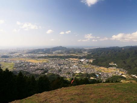 若杉楽園キャンプ場~岳城山~米の山(2020年10月1日)