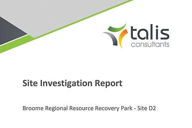 RRRP Site Investigation Report D2