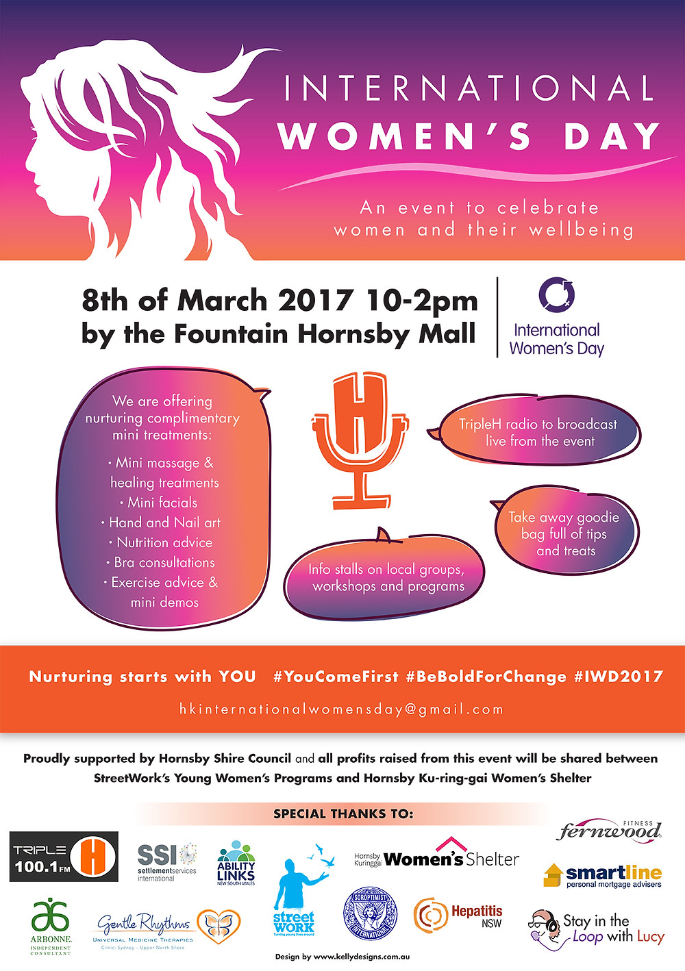 International Women's Day Hornsby Ku-ring-gai 2017 Flyer