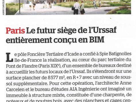 Paris le futur siège de l'Urssaf entièrement conçu en BIM