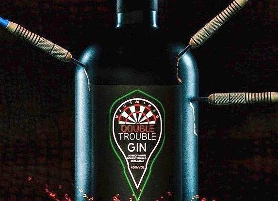 Drei-Flaschen-Packung für Deutschland Double Trouble Gin 50cl & Flights