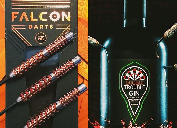 Double Trouble Gin 50cl & Falcon Darts Gift Pack