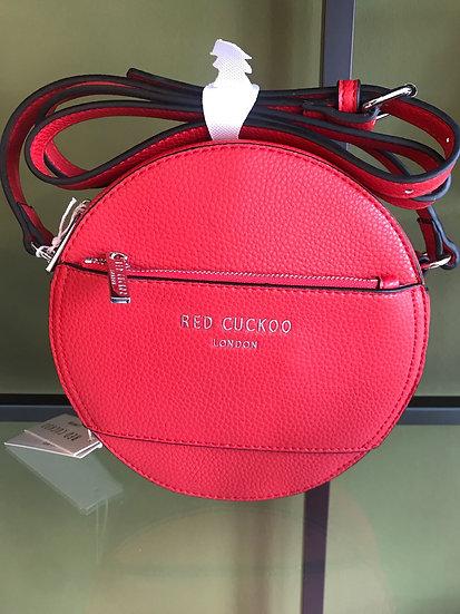 Vegan Leather Round Crossbody Bag