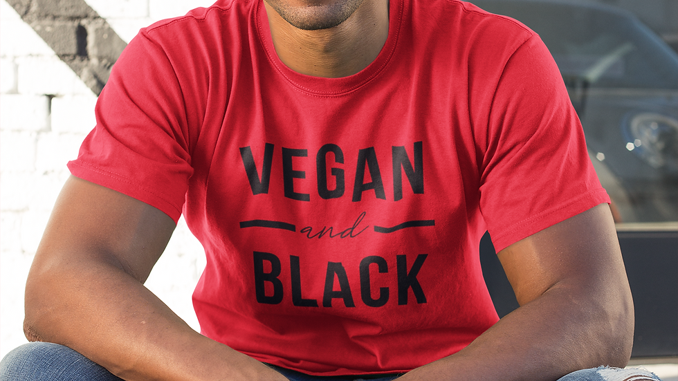 Vegan and Black Unisex Jersey Short Sleeve Tee -  CUSTOMER INSPIRED