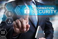 Information security concept. Businessma