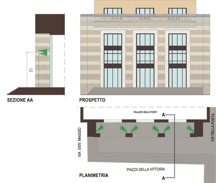 Dettaglio Palazzo delle Poste