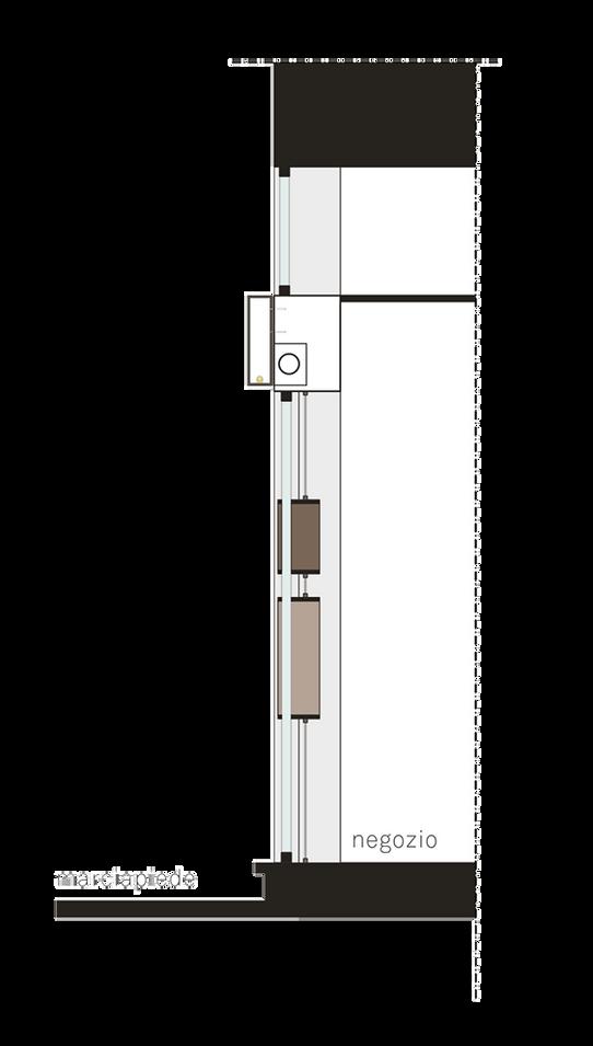Sezione su vetrina