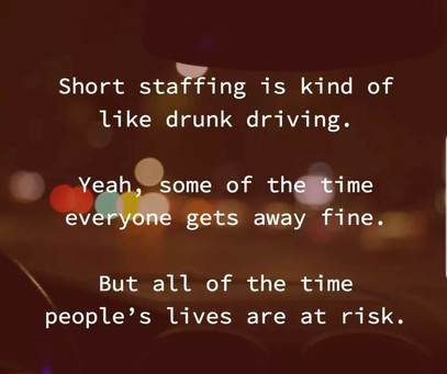 Critically low staffing