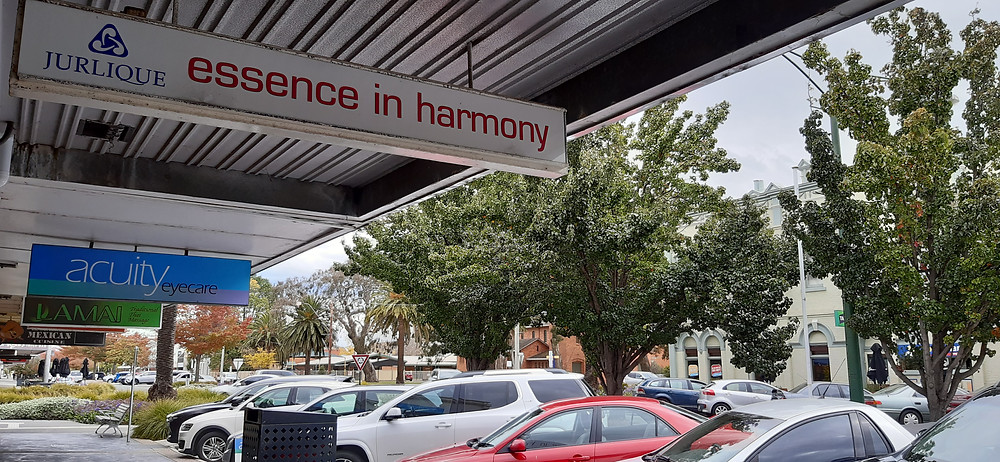 Essence in Harmony shop sign