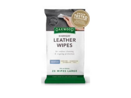 Oakwood Everyday Leather Wipes 20pk