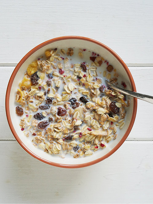 46% Fruit, Nuts & Seeds Muesli … Yummy!