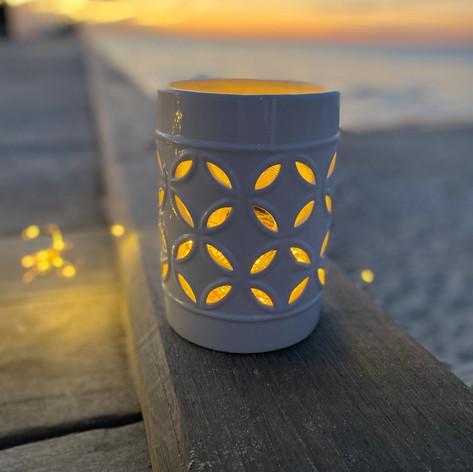 White lantern $30