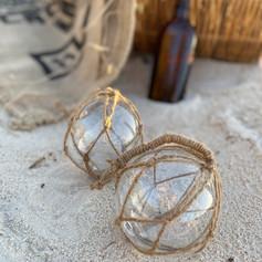 Glass Bouy décor balls  $15 each