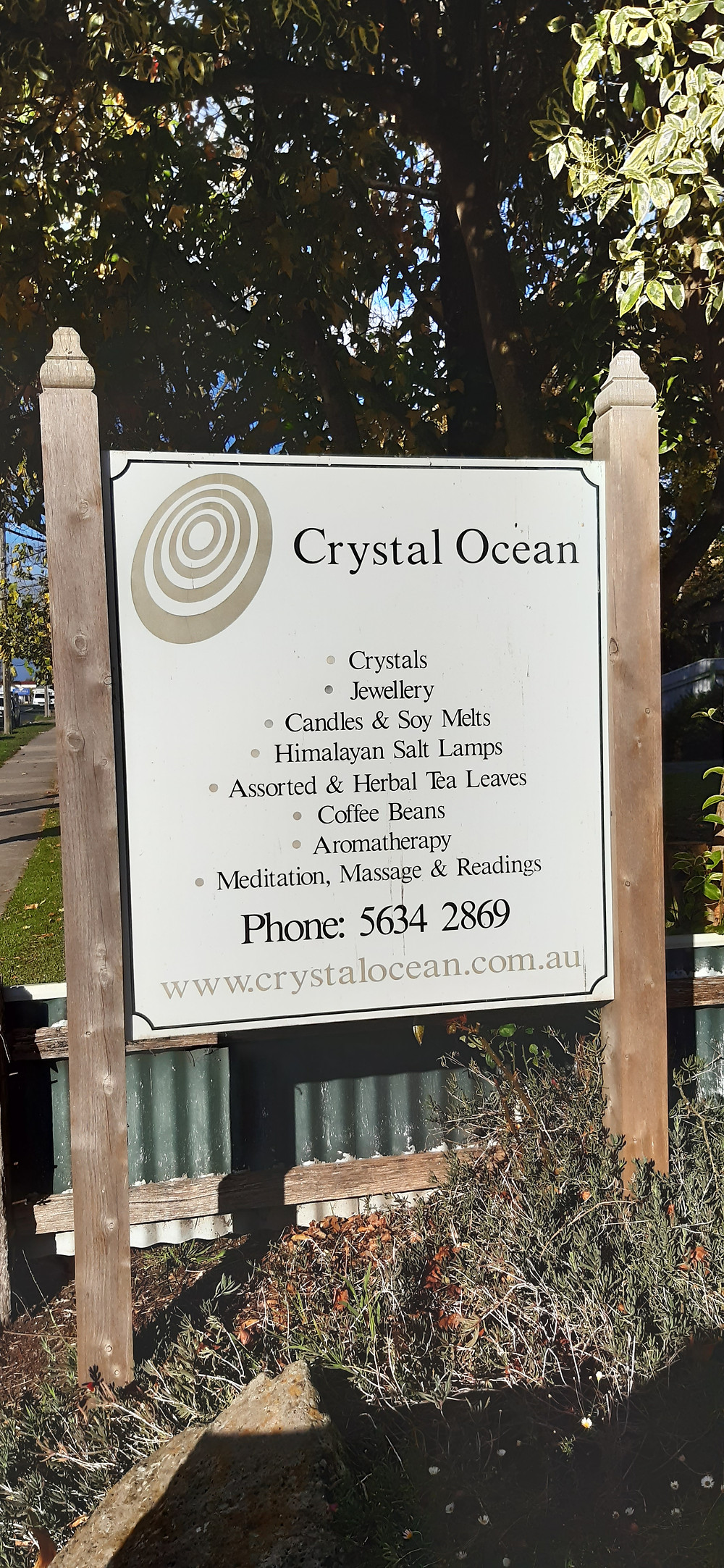 Crystal Ocean sign