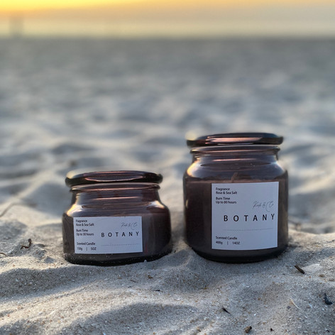 Botany Glass Candles - Small - $12, Large - $22
