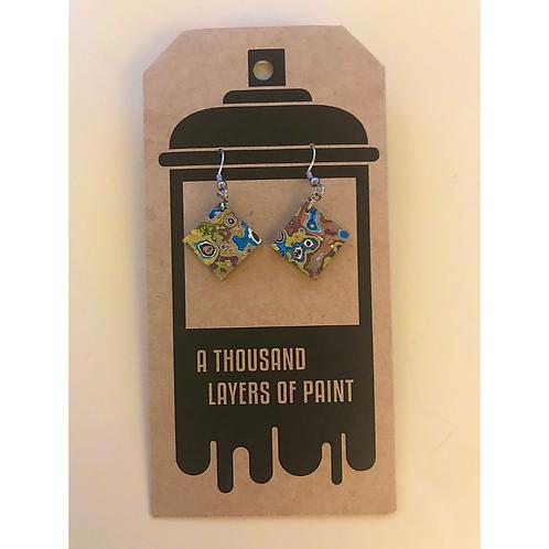 Graffiti Dangle Earrings (Diamond), by Koen Noordenbos