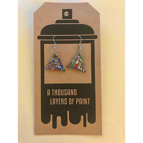 Graffiti Dangle Earrings (Triangle), by Koen Noordenbos