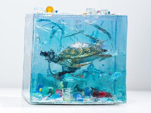 Nurdle Turtle (Sculpture) - (Scapa Joe)
