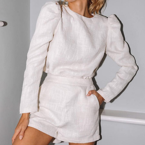 White Linen Two-Piece