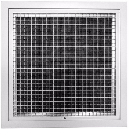 Hinged Eggcrate Grille With Filter HEG/F-150x150 (Face: 200 x 200)