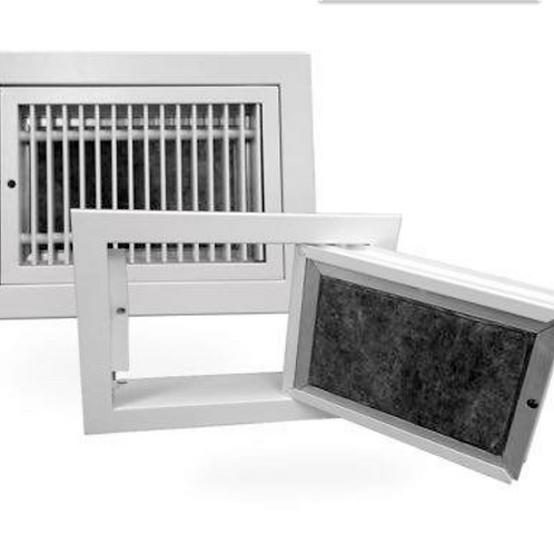 Hinged Bar Grille With Filter HBGF-700x550 (Face: 750 X 600)