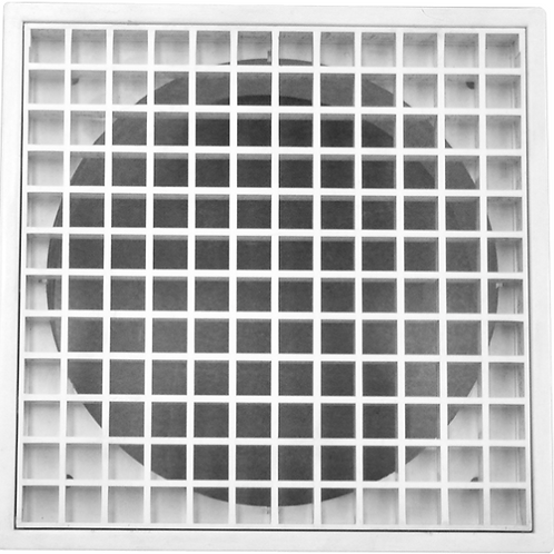 """Plastic Eggcrate Grille """"PEG150 (neck dia) include SS fly mesh"""""""