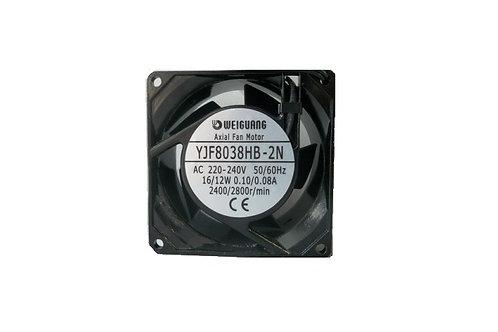 YJF8038HB-2N AC AXIAL FAN 80X80X38 220-240V 16/12W 0.10/0.08A 2400/2800r/min