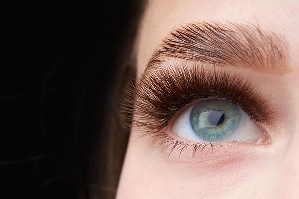 Beautiful macro shot of female eye with