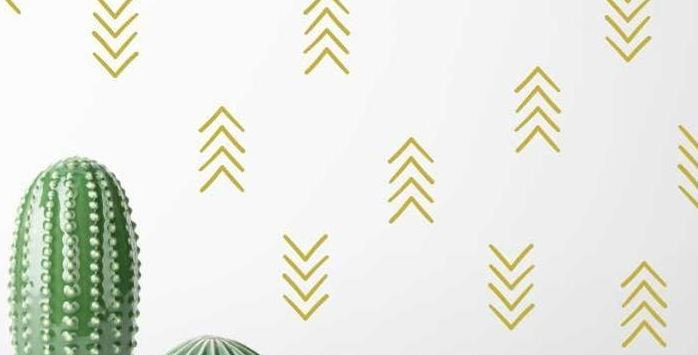 Gold Arrow Wall Decals
