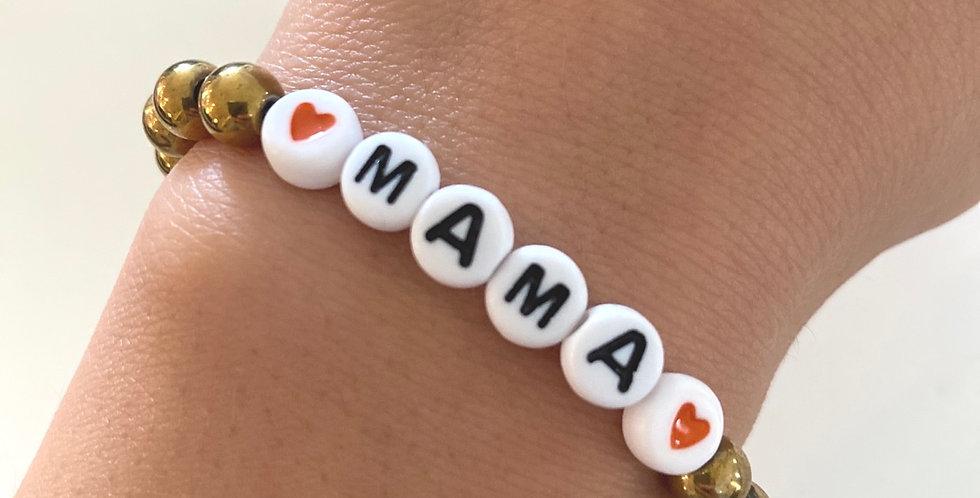 Gold Mama Hematite Handmade Bracelet