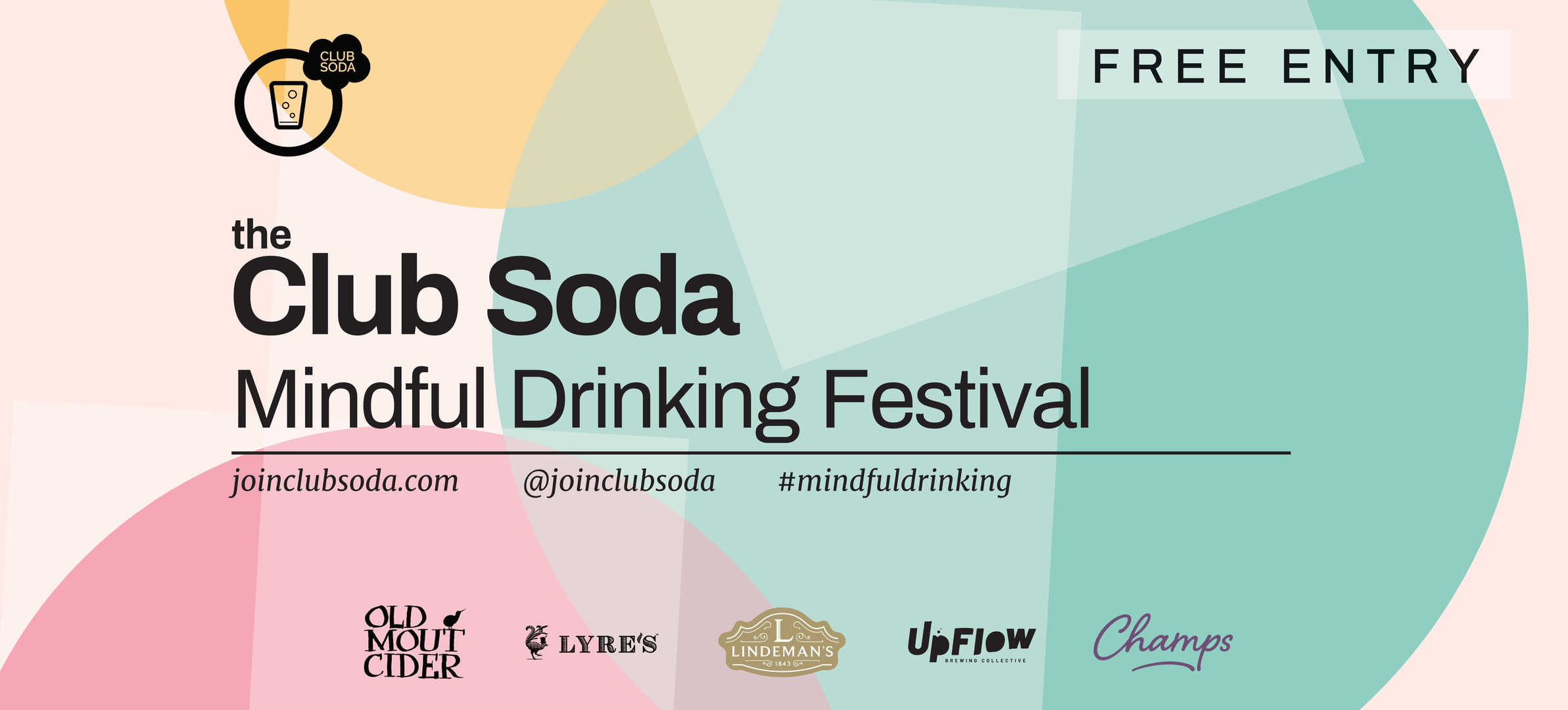 Mindful Drinking Festival Stairs Banner