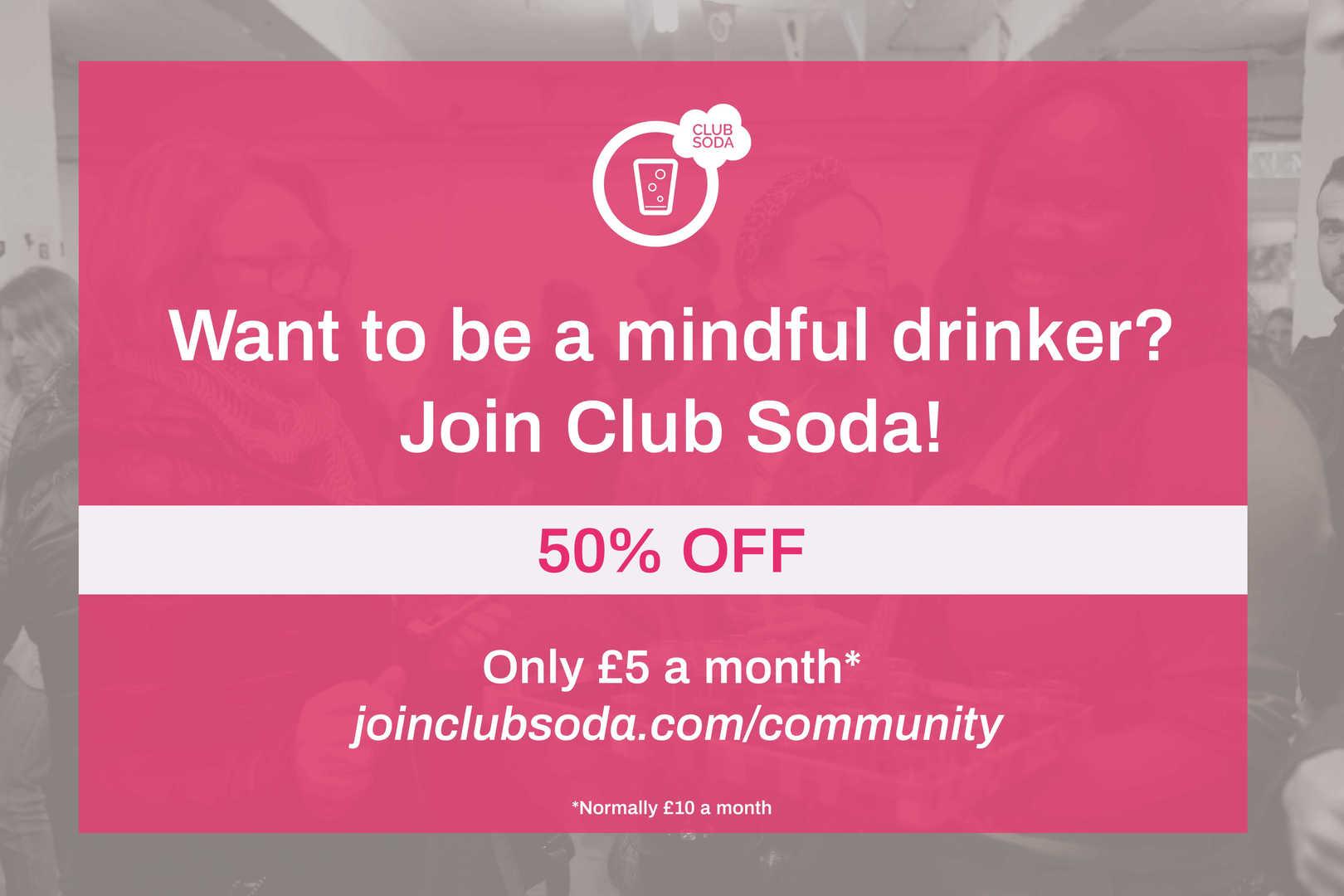 Club Soda Community Stall Banner