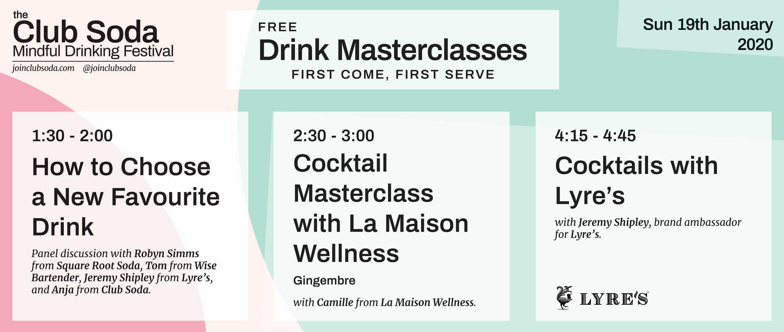 Mindful Drinking Festival Drink Masterclasses Sunday