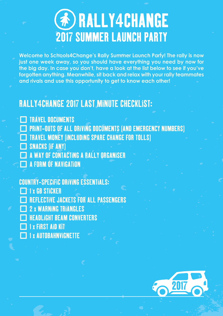 Rally4Change Summer Launch Party Flyer
