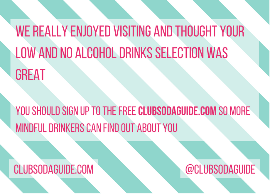 Club Soda Guide Good Venue Card Back