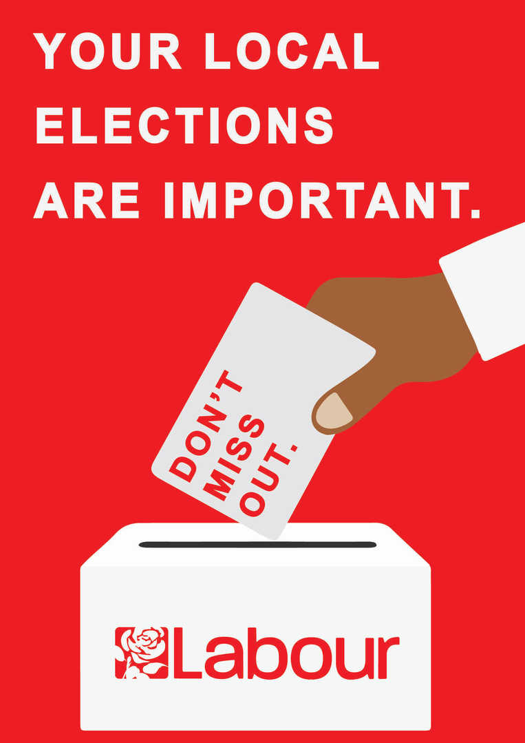 Labour Party Graphic Design Poster